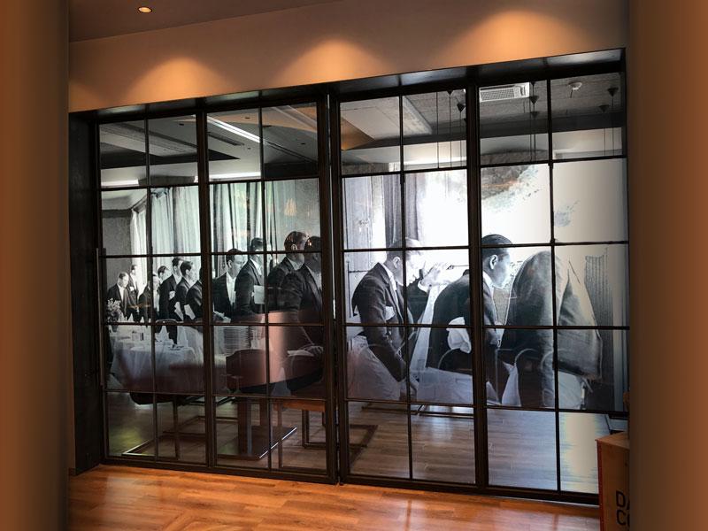 Designerglaswand